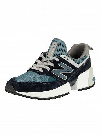 New Balance Navy/Blue 574 Suede Trainers