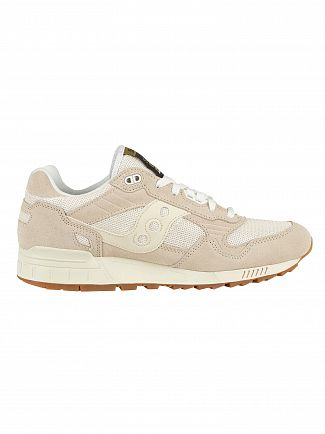 Saucony Tan/White Shadow 5000 Suede Trainers