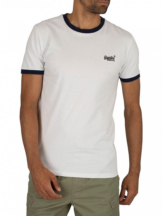 Superdry Optic Orange Label Cali Stack T-Shirt