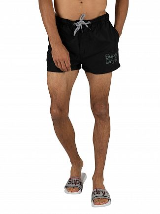 Superdry Black Sorrento Pastel Swim Shorts