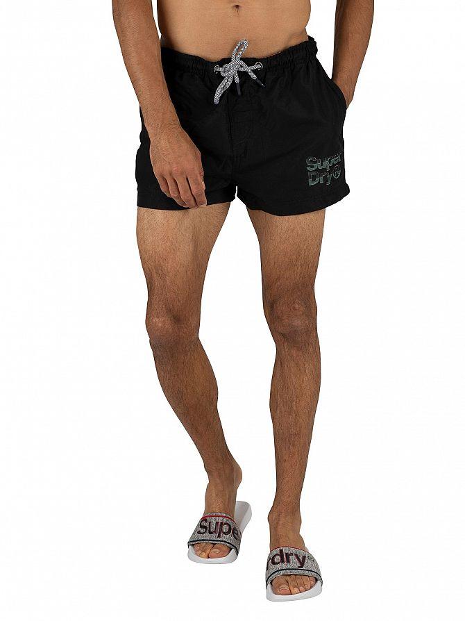 Superdry Black Sorrento Pastel Swim Shorts