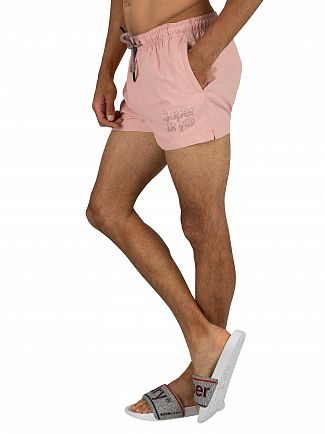 Superdry Pink Sorrento Pastel Swim Shorts