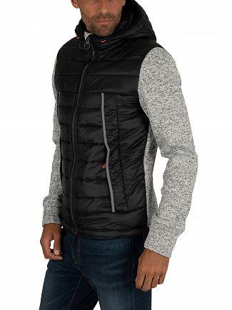 Superdry Light Grey Grit Storm Flash Hybrid Jacket
