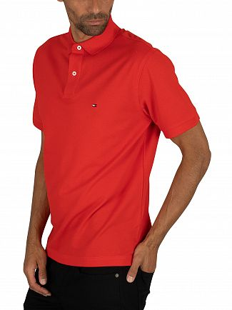 Tommy Hilfiger Fiery Red Regular Polo Shirt