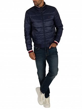 Tommy Hilfiger Maritime Blue Reversible Down Harrington Jacket