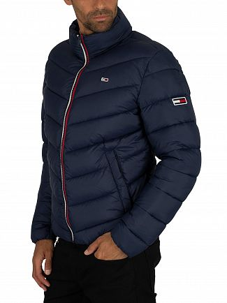 Tommy Jeans Black Iris Navy Essential Puffer Jacket