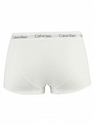 Calvin Klein White/Stripe/Black 3 Pack Low Rise Trunks