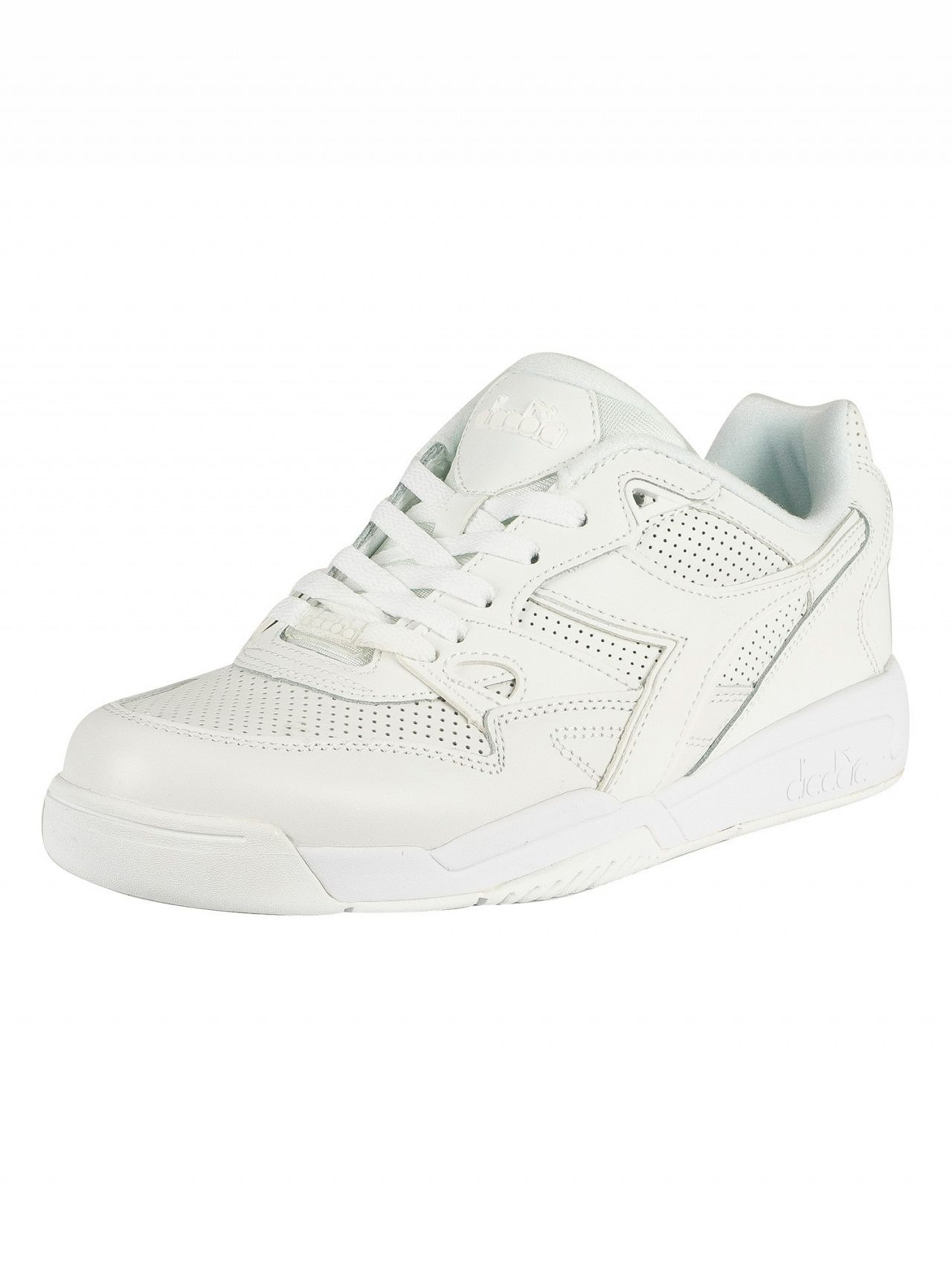 35901fd7 Diadora White Rebound Ace Leather Trainers