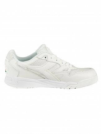 Diadora White Rebound Ace Leather Trainers