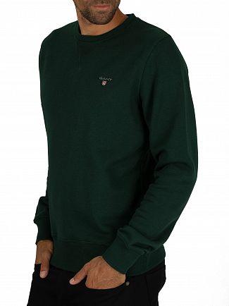 Gant Tartan Green Original Sweatshirt
