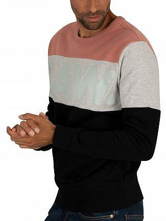 G-Star Dark Black/Dark Tea Rose Libe Core Sweatshirt