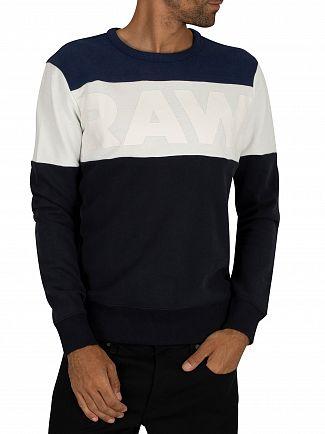 G-Star Mazarine Blue/Imperial Blue Libe Core Sweatshirt