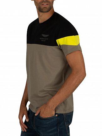 Hackett London Black/Green Aston Martin Racing T-Shirt