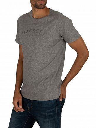 Hackett London Grey Marl Classic Logo T-Shirt
