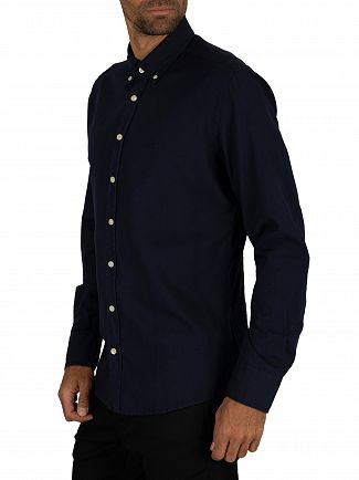 Hackett London Navy Dye Oxford Slim Shirt
