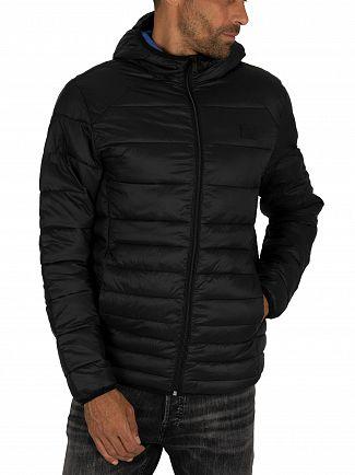 Jack & Jones Black Bomb Hood Puffer Jacket