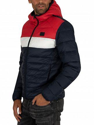 Jack & Jones Scarlet Bomb Hood Puffer Jacket