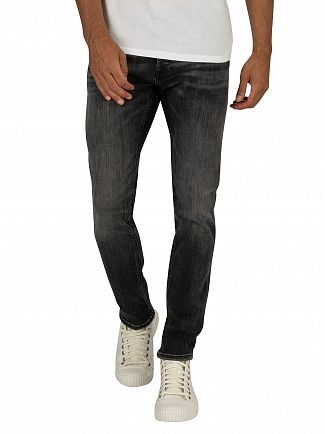 Jack & Jones Black Denim Glenn Original 817 Slim Jeans