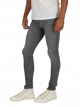 Jack & Jones Grey Denim Liam Original Skinny Jeans