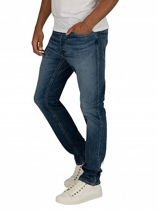 Jack & Jones Blue Denim Tim Original 814 Slim Straight Jeans