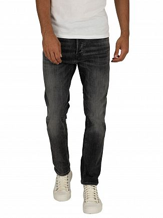 Jack & Jones Black Denim Tim Original 817 Slim Jeans