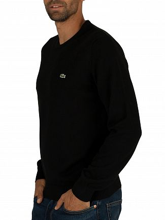 Lacoste Black Logo Knit Sweatshirt