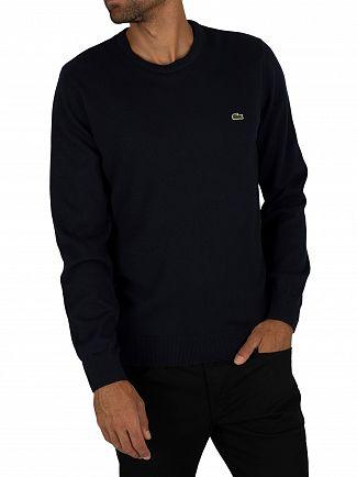 Lacoste Navy Logo Knit Sweatshirt