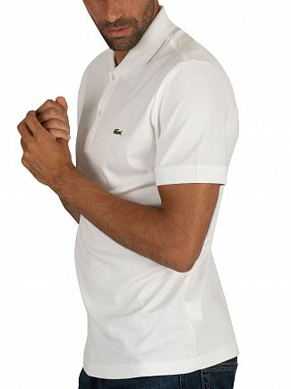 Lacoste White Logo Polo Shirt