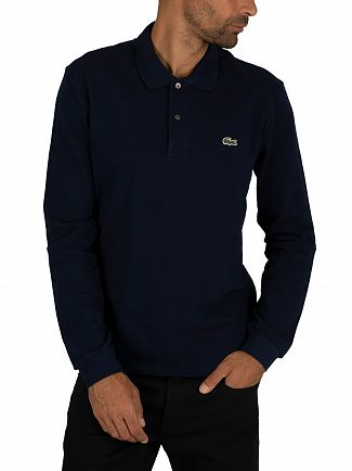 Lacoste Navy Longsleeved Polo Shirt