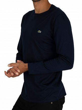 Lacoste Navy Longsleeved T-Shirt