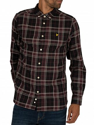 Lyle & Scott True Black Check Flannel Shirt