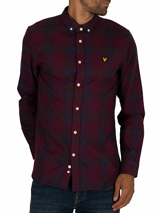 Lyle & Scott Burgundy Check Flannel Shirt