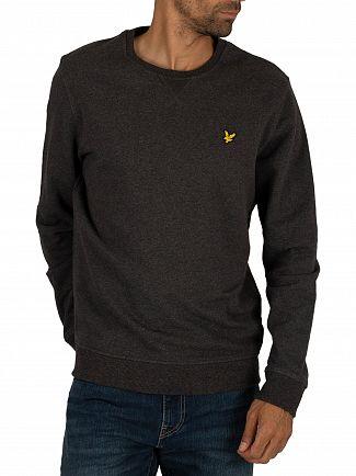 Lyle & Scott Charcoal Marl Crew Sweatshirt