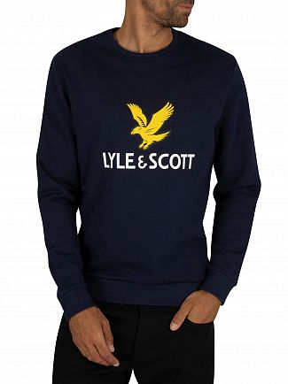Lyle & Scott Navy Logo Sweatshirt