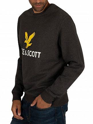 Lyle & Scott Charcoal Marl Logo Sweatshirt