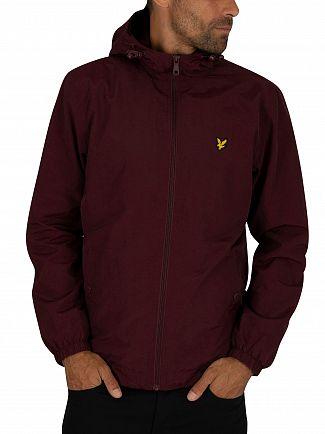 Lyle & Scott Burgundy Microfleece Lined Zip Jacket