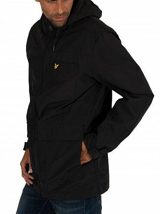 Lyle & Scott True Black Microfleece Lined Zip Jacket