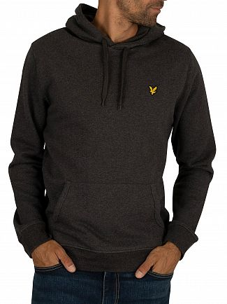 Lyle & Scott Charcoal Marl Pullover Hoodie