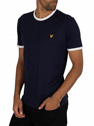 Lyle & Scott Navy/White Ringer T-Shirt