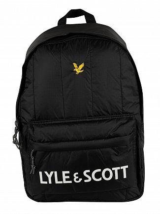 Lyle & Scott True Black Wadded Backpack