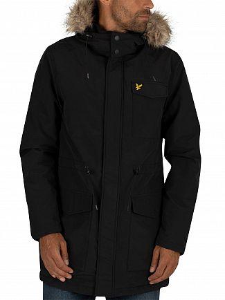 Lyle & Scott True Black Winter Weight Microfleece Parka Jacket