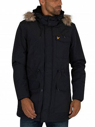 Lyle & Scott Dark Navy Winter Weight Microfleece Parka Jacket