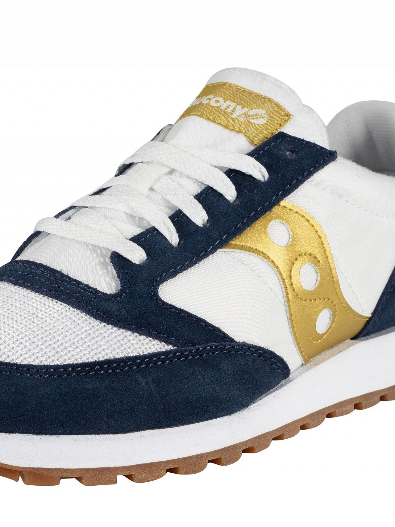 756bdbf0 Saucony White/Navy/Gold Jazz Original Vintage Trainers