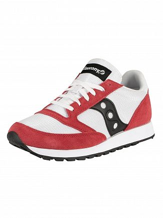 Saucony White/Red/Black Jazz Original Vintage Trainers