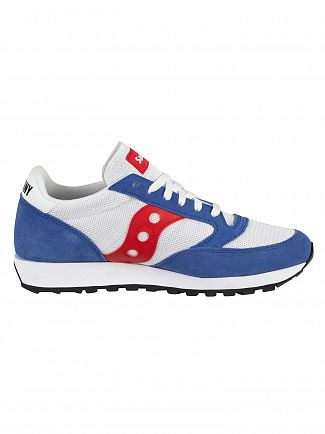Saucony White/Blue/Red Jazz Original Vintage Trainers