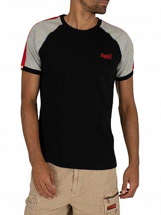 Superdry Black Racer Cut & Sew Ringer T-Shirt