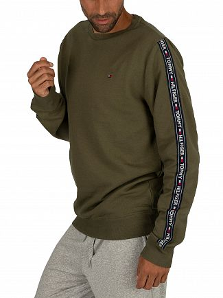 Tommy Hilfiger Olive Night Track Sweatshirt