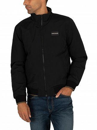 Calvin Klein Jeans Black/Grape Leaf Harrington Padded Jacket