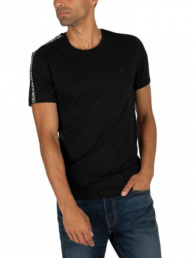 Calvin Klein Jeans Black Sleeves Logo T-Shirt