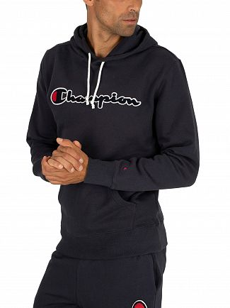 Champion Navy Graphic Pullover Hoodie